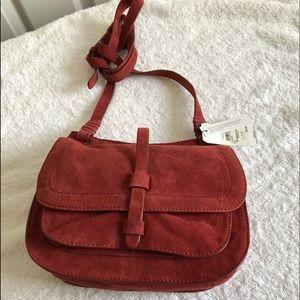 Crossbody Saddlebag Burnt Dark Orange Bag